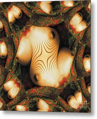 Abstract Breasts By Mb Metal Print
