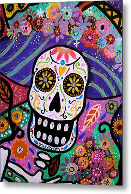 Metal Print featuring the painting Abstract Catrina by Pristine Cartera Turkus