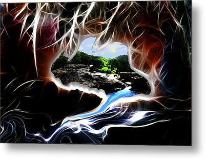 Abstract-cavern Metal Print by Patricia Motley
