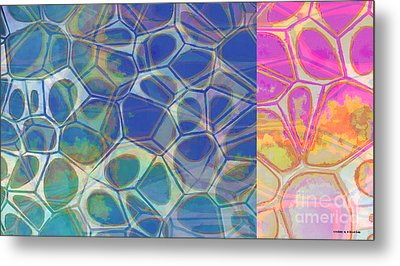 Abstract Cells 6 Metal Print by Edward Fielding