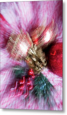 Metal Print featuring the photograph Abstract Christmas 5 by Rebecca Cozart
