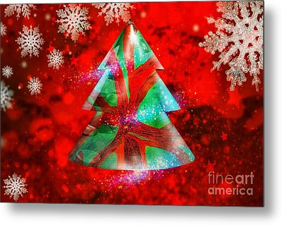 Abstract Christmas Bright Metal Print