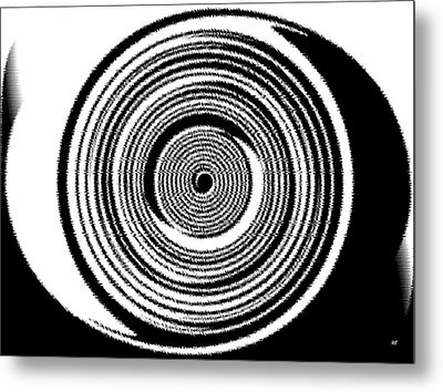 Abstract Clock Spring Metal Print by Will Borden
