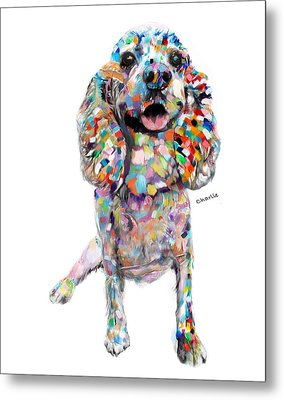 Abstract Cocker Spaniel Metal Print