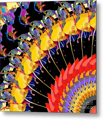 Metal Print featuring the digital art Abstract Collage Of Colors by Phil Perkins