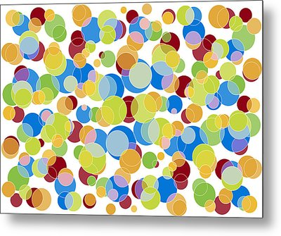 Abstract Color Metal Print by Frank Tschakert