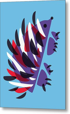 Abstract Colorful Hedgehog Metal Print