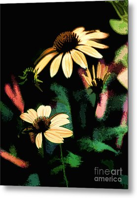 Abstract Coneflowers Metal Print