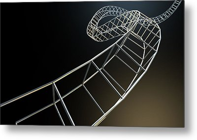 Abstract Contruction Spiral Metal Print