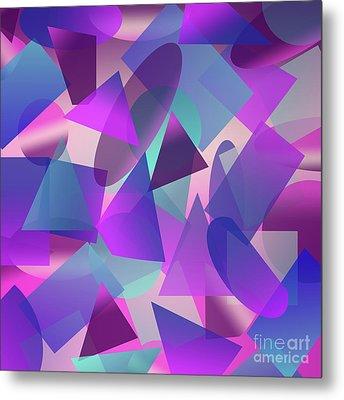 Abstract Cube II Metal Print by Amir Faysal