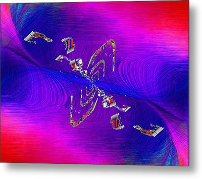 Metal Print featuring the digital art Abstract Cubed 350 by Tim Allen