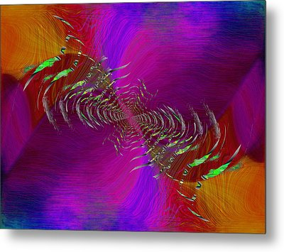 Metal Print featuring the digital art Abstract Cubed 352 by Tim Allen