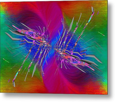 Metal Print featuring the digital art Abstract Cubed 353 by Tim Allen