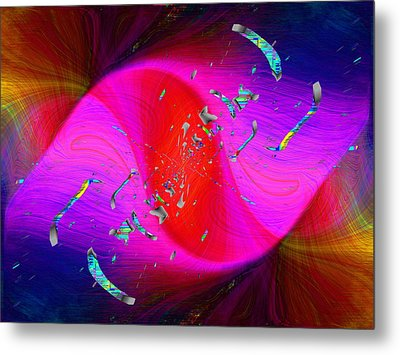 Metal Print featuring the digital art Abstract Cubed 354 by Tim Allen