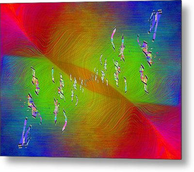 Metal Print featuring the digital art Abstract Cubed 355 by Tim Allen