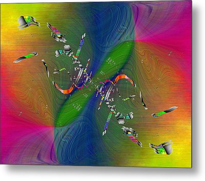 Metal Print featuring the digital art Abstract Cubed 356 by Tim Allen