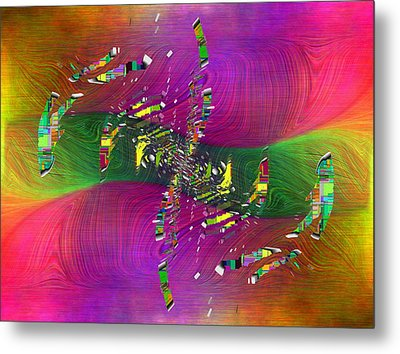 Metal Print featuring the digital art Abstract Cubed 357 by Tim Allen