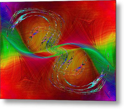 Metal Print featuring the digital art Abstract Cubed 358 by Tim Allen