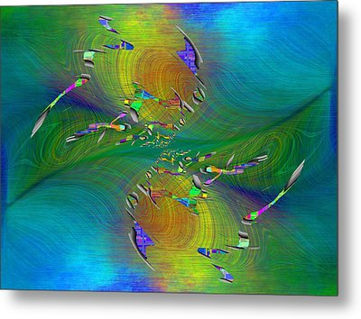 Metal Print featuring the digital art Abstract Cubed 359 by Tim Allen