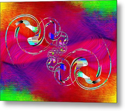 Metal Print featuring the digital art Abstract Cubed 360 by Tim Allen