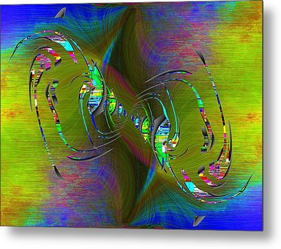 Metal Print featuring the digital art Abstract Cubed 361 by Tim Allen