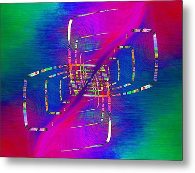 Metal Print featuring the digital art Abstract Cubed 363 by Tim Allen