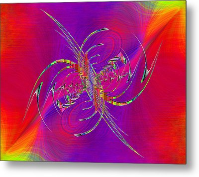 Metal Print featuring the digital art Abstract Cubed 365 by Tim Allen