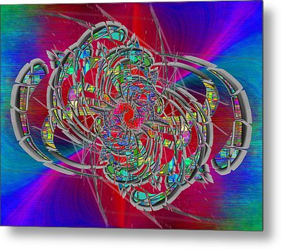 Metal Print featuring the digital art Abstract Cubed 367 by Tim Allen