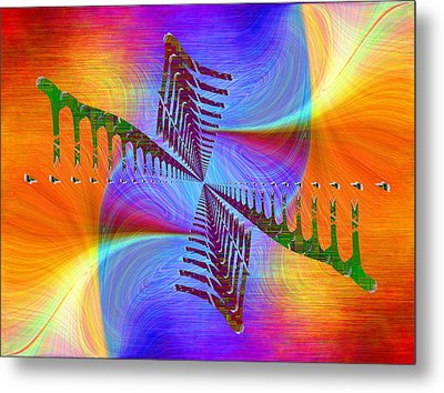 Metal Print featuring the digital art Abstract Cubed 372 by Tim Allen