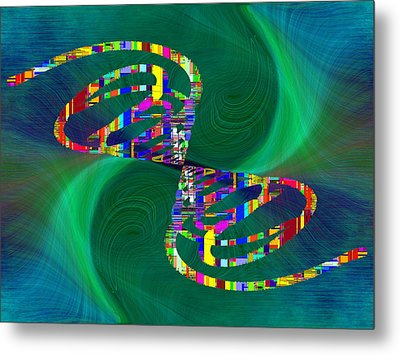 Metal Print featuring the digital art Abstract Cubed 374 by Tim Allen