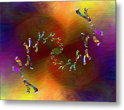 Metal Print featuring the digital art Abstract Cubed 375 by Tim Allen