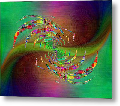 Metal Print featuring the digital art Abstract Cubed 379 by Tim Allen