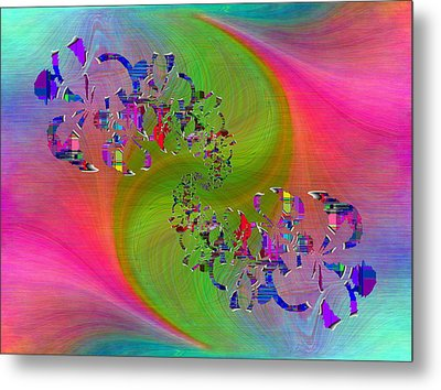 Metal Print featuring the digital art Abstract Cubed 381 by Tim Allen