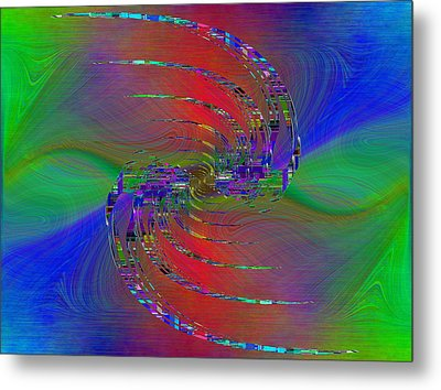 Metal Print featuring the digital art Abstract Cubed 384 by Tim Allen