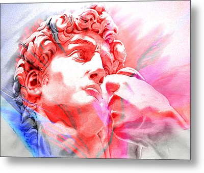 Metal Print featuring the painting Abstract David Michelangelo 1 by J- J- Espinoza