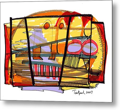 Abstract Drawing Sixty-seven Metal Print by Lynne Taetzsch