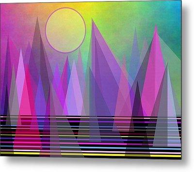 Abstract Elevation Metal Print by Kathleen Sartoris