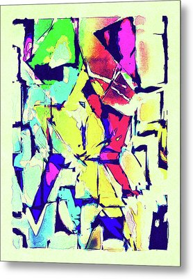 Abstract Explosion Metal Print by Susan Leggett