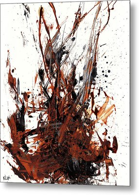 Abstract Expressionism Painting 50.072110 Metal Print by Kris Haas