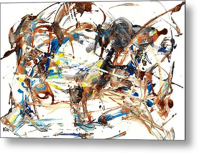 Metal Print featuring the painting Abstract Expressionism Painting Series 1042.050812 by Kris Haas