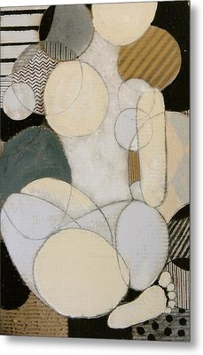 Abstract Female Back  Metal Print