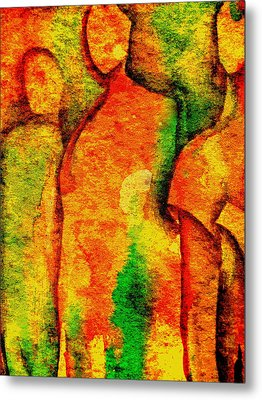 Abstract Figures Metal Print by Chris Boone