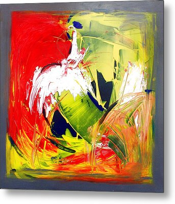 Abstract Fine Art Print - Gestural Abstraction Metal Print by Mario Zampedroni