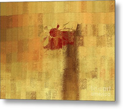 Abstract Floral - 14v2ft Metal Print by Variance Collections