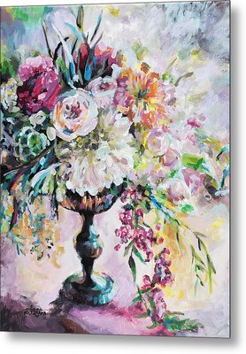 Abstract Floral Metal Print