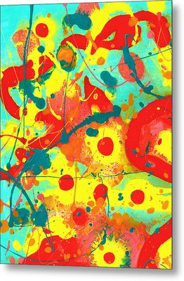 Abstract Floral Fantasy Panel A Metal Print
