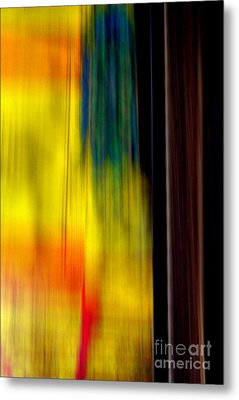 Abstract-from A Rolling Train Metal Print