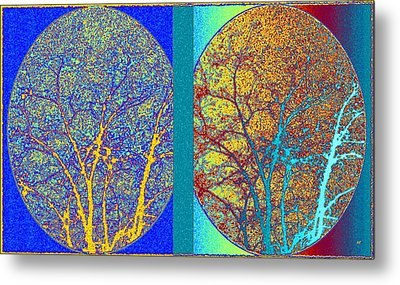 Metal Print featuring the digital art Abstract Fusion 276 by Will Borden