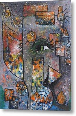 Abstract Ganesha  Metal Print by Prerna Poojara