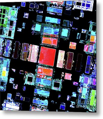 Metal Print featuring the digital art Abstract Geometric Art by Phil Perkins